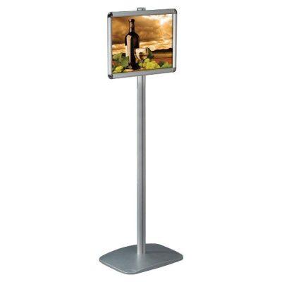 "11"" x 17"" Adjustable Floor Menu Board & Floor Sign Stand Round Profile"
