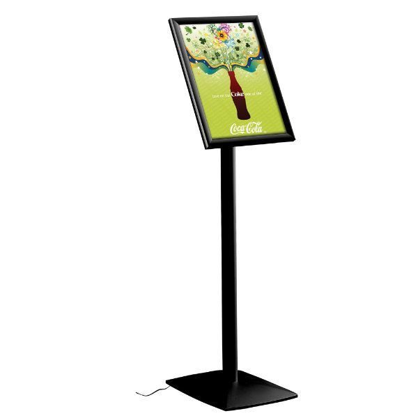 "11"" x 17"" Flexible LED Light Box Floor Sign & Menu Stand Black"