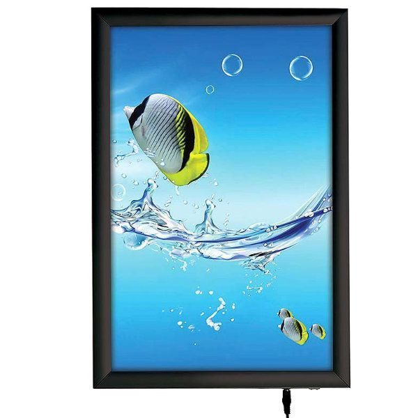 "11""w x 17""h Smart Poster LED Light Box 1"" Black Aluminium Profile"