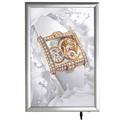 "11""w x 17""h Smart Poster LED Light Box 1"" Silver Aluminium Profile"