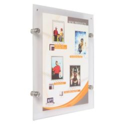 "11""w x 17""h Wall Mount Clear Acrylic Sign Holder & Frame"