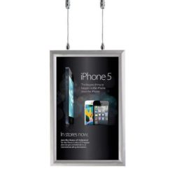 11x17 Double Sided Snap Poster Frame - 1 inch Silver Mitred Profile