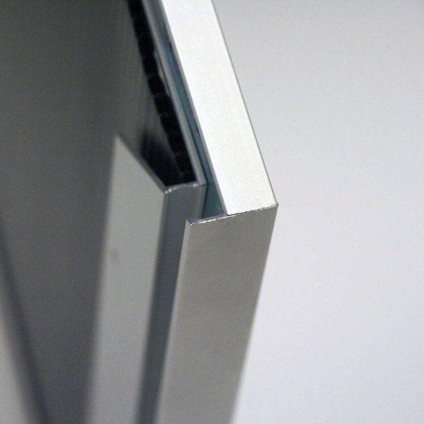 11x17 Slide In Frame 0 93 Inch Silver Mitred Profile