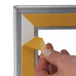 11x17 Window Frame - 1 inch Silver Color Mitred Profile