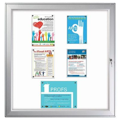 "12x(8.5""w x 11h"") Premium Magnetic Bulletin Board Outdoor Use"