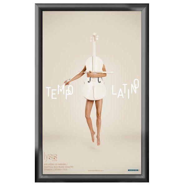 14x22 Snap Poster Frame - 1 inch Black Profile, Mitred Corner