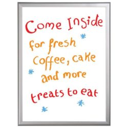 "16""w x 22""h Write On Board Dry Wipe  Aluminum Frame, White Surface"