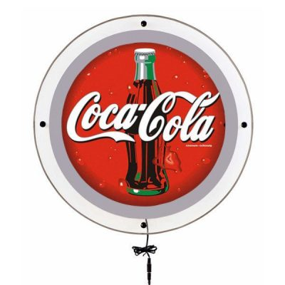 "17.72"" Acryled Circle Poster LED Sign for Wall Mounting Silver"