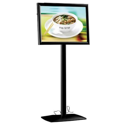 "18"" x 24"" Flexible LED Light Box Floor Sign & Menu Stand Black"