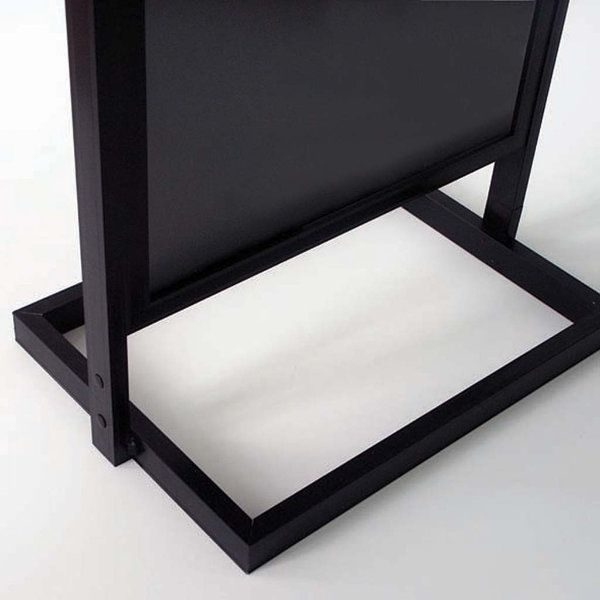 "18""w x 24""h Eco Poster Display Stand Black 1 Tier Double Sided"
