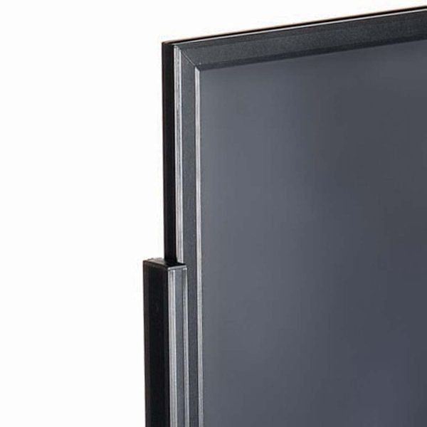 """18""""w x 24""""h Eco Poster Display Stand Black 1 Tier Double Sided"""