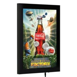 "18""w x 24""h Magnetic Poster LED Light Box Black"