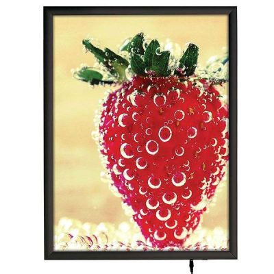 "18""w x 24""h Smart Poster LED Light Box 1"" Black Aluminium Profile"