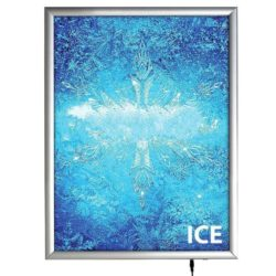 "18""w x 24""h Smart Poster LED Light Box 1"" Silver Aluminium Profile"