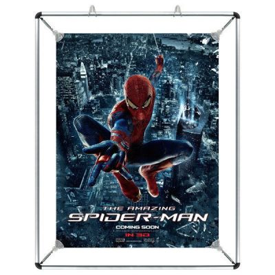 "18""w x 24""h Stretch Poster Holder - Silver Aluminum Profile"