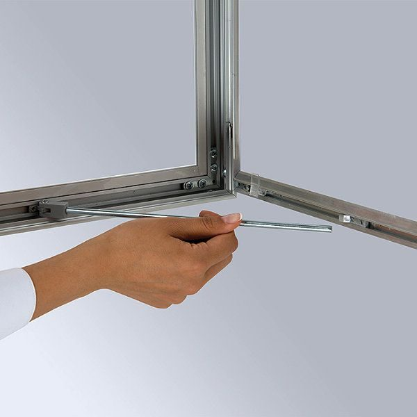 """18""""w x 24""""h Universal Poster Showboard Single Lock, Outdoor Use"""