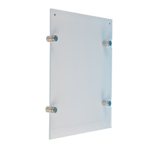 """18""""w x 24""""h Wall Mount Clear Acrylic Sign Holder & Frame"""