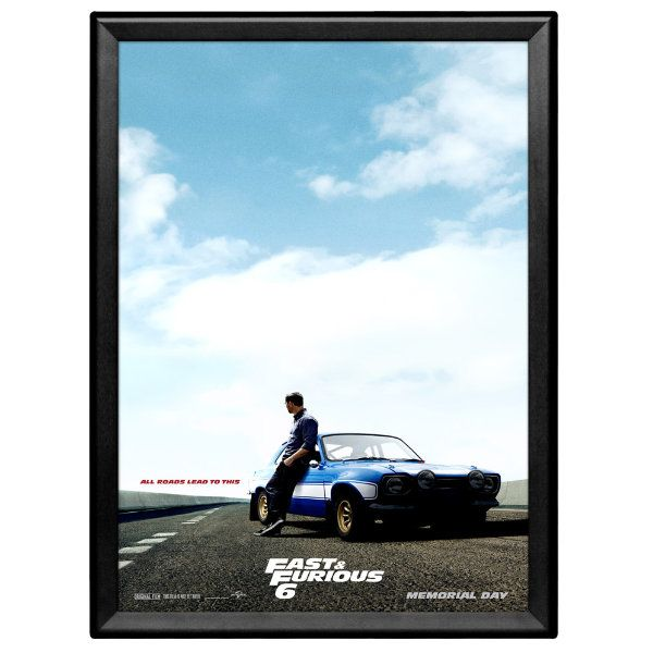 18x24 Snap Poster Frame - 1.25 inch Black Profile, Safe Round Corner