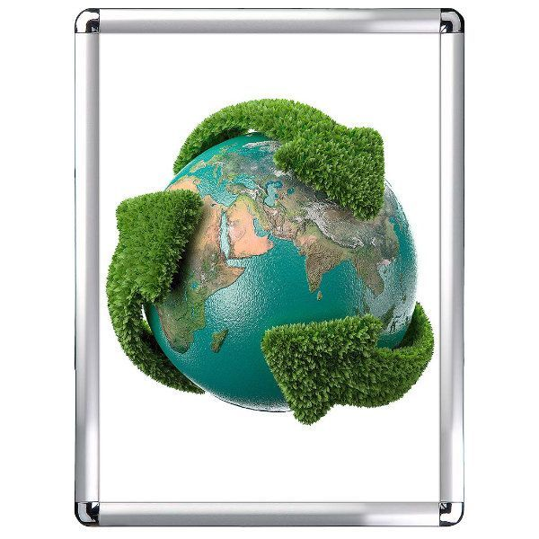 18x24 Snap Poster Frame 1 Inch Silver Profile Round Corner