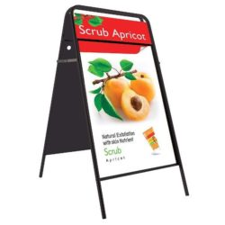 20x30 A Frame Board Black Iron With Magnetic Cover