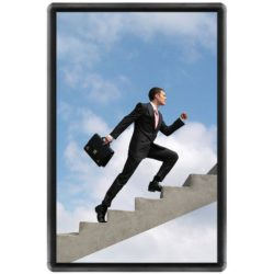 20x30 Snap Poster Frame - 1 inch Black Profile, Round Corner