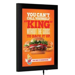 "22""w x 28""h Magnetic Poster LED Light Box Black"