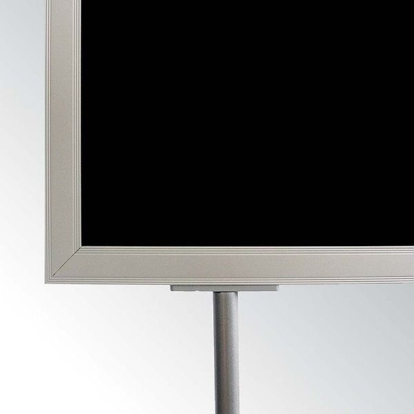 "22""w x 28""h Oval Poster Display Stand - Silver Double Sided"