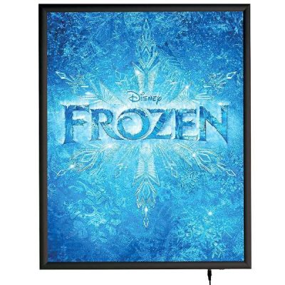 "22""w x 28""h Smart Poster LED Light Box 1"" Black Aluminium Profile"