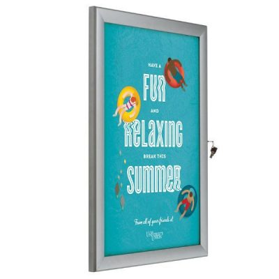 "22""w x 28""h Universal Poster Showboard Single Lock, Outdoor Use"