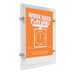 "22""w x 28""h Wall Mount Clear Acrylic Sign Holder & Frame"