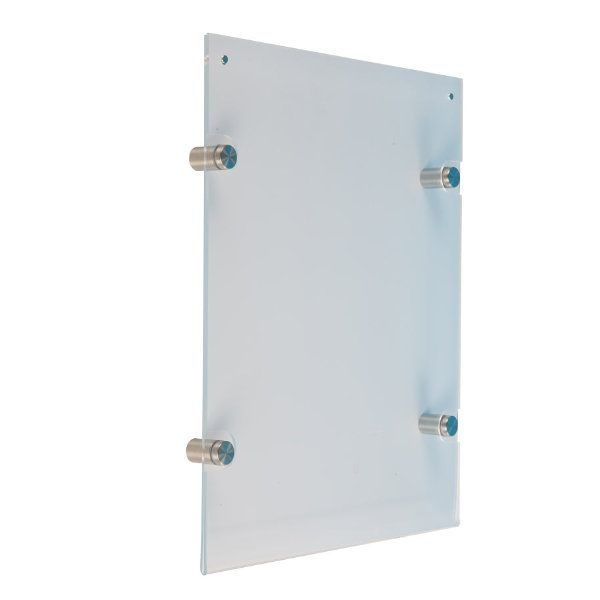 22x28 wall mount clear acrylic sign holder frame