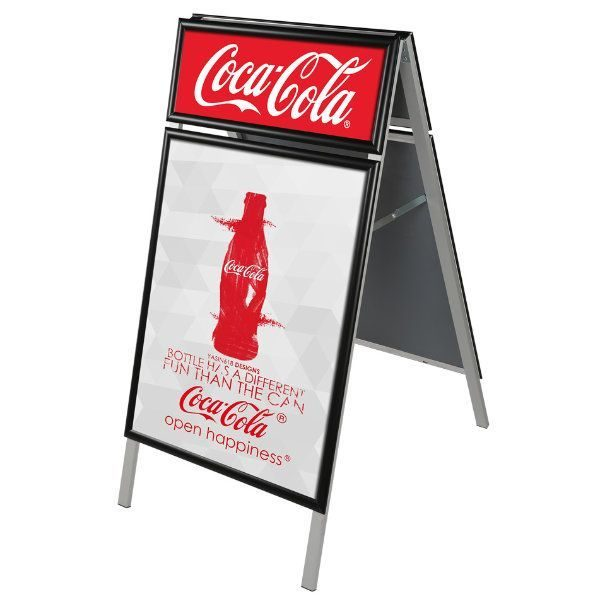 22x28 A Frame Board with Header Black Aluminum PS Backing