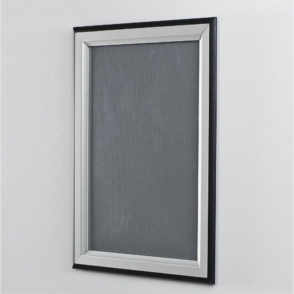 22x28 Double Color Snap Poster Frame - 1.58 inch Black-Silver
