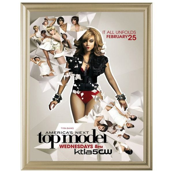 22x28 Fancy Snap Poster Frame - 1.58 inch Beige Color Mitred Profile