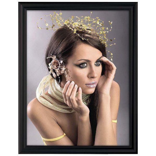 22x28 Fancy Snap Poster Frame - 1.58 inch Black Color Mitred Profile