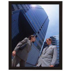 "22x28 Lockable Weatherproof Snap Poster Frame - 1.38"" Black Profile"