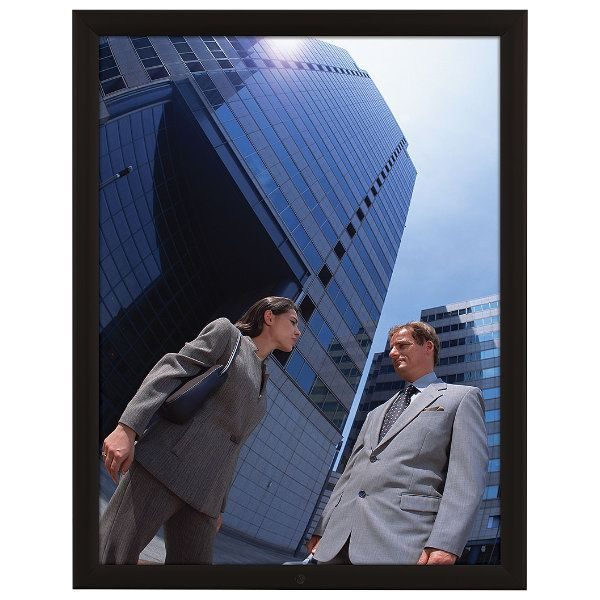 "22x28 Lockable Weatherproof Snap Poster Frame - 1.38"" Black Profile"