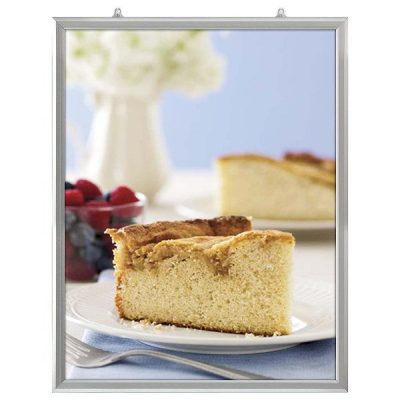 22x28 Slide In Frame - 1 inch Silver Mitred Profile Double Sided