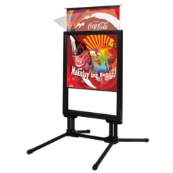 22x28 Slide-in SwingPro Black Frame Black Feet Sidewalk Sign
