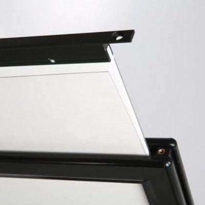 22x28 Slide-In WindPro Silver Frame Grey Water Base Sidewalk Sign