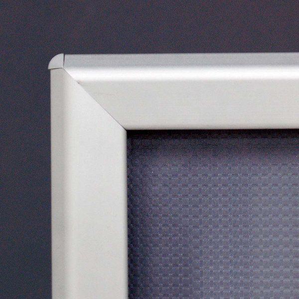 20x30 Snap Poster Frame 125 Inch Silver Profile Safe Round Corner
