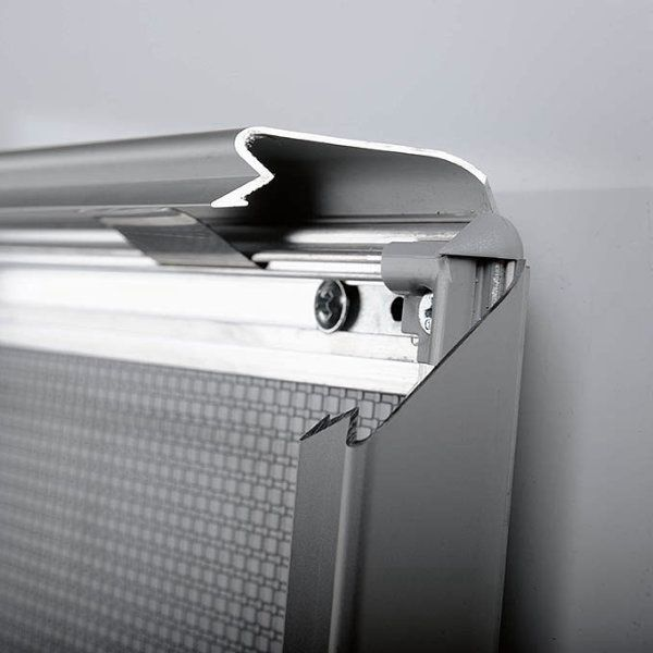 30x40 Snap Poster Frame - 1.25 inch Silver Profile, Safe Round Corner