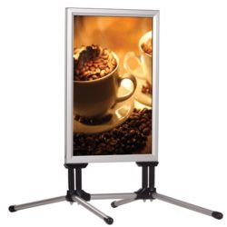 22x28 SwingPro Silver Frame Silver Feet Sidewalk Sign