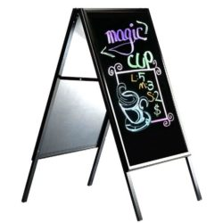 22x28 Write On A Frame Board Black Frame Sidewalk Sign