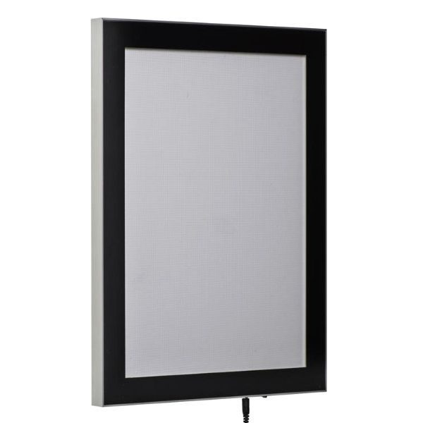 "24""w x 36""h Magnetic Poster LED Light Box Black"