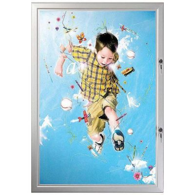 "24""w x 36""h Poster Showboards Double Lock, Outdoor Use"