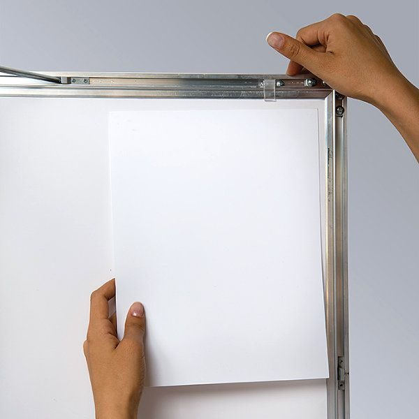 """24""""w x 36""""h Universal Poster Showboard Single Lock, Outdoor Use"""