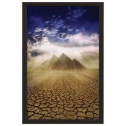 "24x36 Lockable Weatherproof Snap Poster Frame - 1.38"" Black Profile"