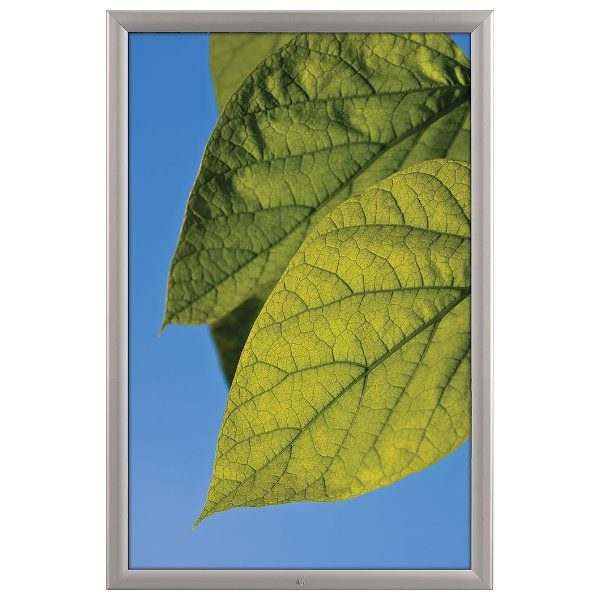 "24x36 Lockable Weatherproof Snap Poster Frame - 1.38"" Silver Profile"