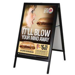 24x36 Slide-in A Frame Board Black Sidewalk Sign